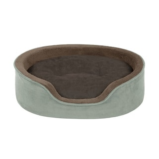 Soft Touch Faux Suede Oval Cuddler with Cushion