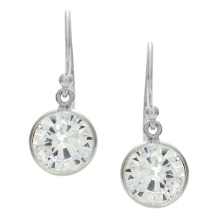 White CZ Silvertone Earrings (India)