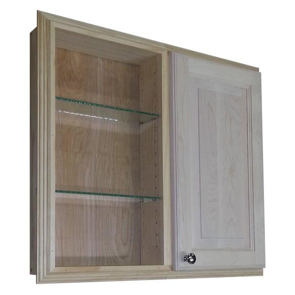 Baldwin 24-inch Recessed Dual Mount Single-door Medicine Storage Cabinet