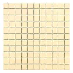 SomerTile 12-inch Victorian Matte Biscuit Porcelain Mosaic Tiles (Pack of 10)