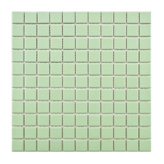 SomerTile 12-inch Victorian Matte Green Porcelain Mosaic Tiles (Pack of 10)