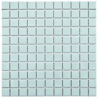 SomerTile 12-inch Victorian Matte Blue Porcelain Mosaic Tiles (Pack of 10)
