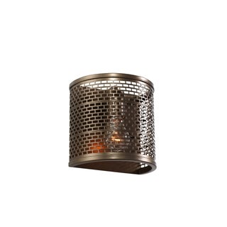 Varaluz Lit-Mesh Test 1-light New Bronze Sconce