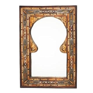 Keyhole Arch Inlaid Moroccan Mirror (Morocco)