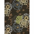 nuLOOM Machine-tufted Contemporary Floral Brown Rug (5'6 x 7'6)