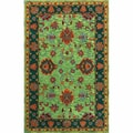 nuLOOM Handmade Overdyed Traditional Green Wool Rug (5' x 8')