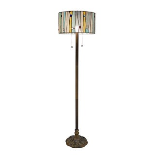 Tiffany-style Blue Contemporary Floor Lamp