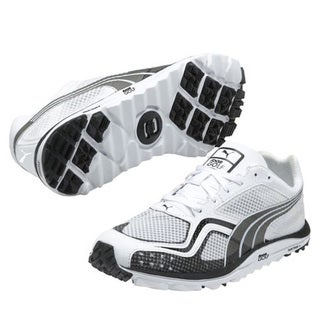 Puma Men's White Faas Lite Mesh Spikeless Golf Shoes