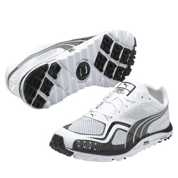 Puma Men's White Faas Lite Mesh Spikeless Golf Shoes