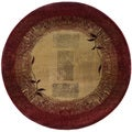 Generations Red/ Beige Rug (6' Round)