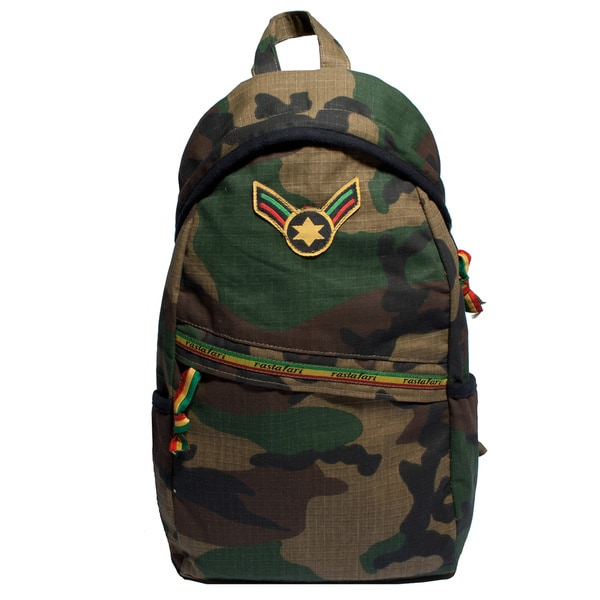 Rastafari Patch One-Shoulder Army Bag (Nepal)