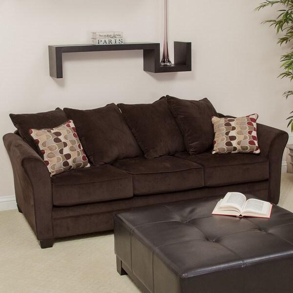 Christopher Knight Home Newbury Brown Pinchord Stationary Sofa