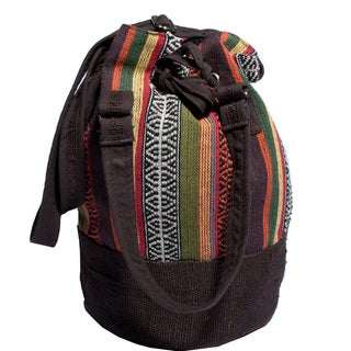 Oak Brown Hobo Cotton Knit Bag (Nepal)