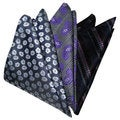 Dmitry Men's 10x10-Inch Italian Silk Pocket Squares (Pack of 3)
