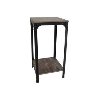 Set of 2 Distressed Wood Side Tables (China)