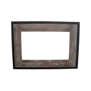 Set of 4 Distressed Wood Mirror (China)