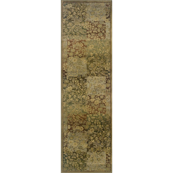 Generations Green/ Gold Rug (2'7 X 9'1) 11435937