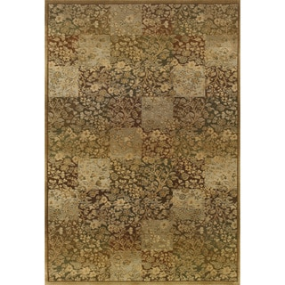 Generations Green/ Gold Polypropylene Rug (7'10 X 11')