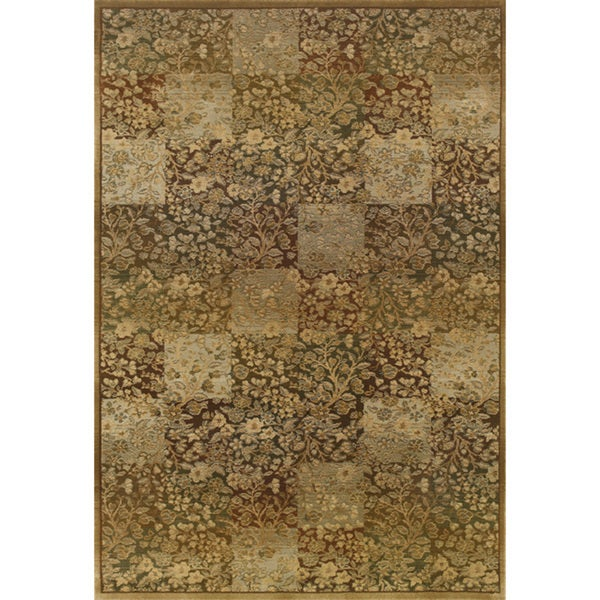 Generations Green/ Gold Rug (7'10 X 11')