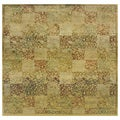 Generations Green/ Gold Polypropylene Rug (8' Square)
