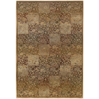Generations Green/ Gold Polypropylene Rug (9'9 X 12'2)
