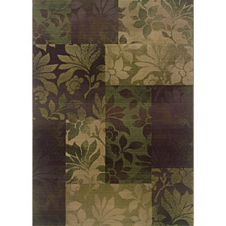 Generations Purple/ Green Polypropylene Rug (4' X 5'9)