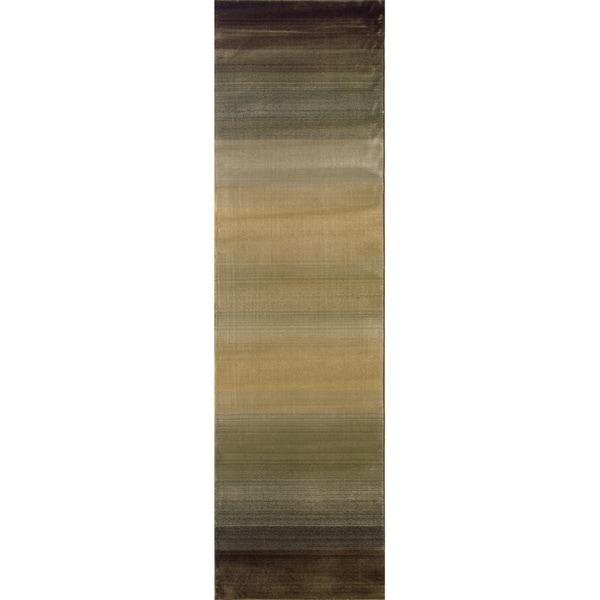 Generations Brown/ Beige Rug - 2'7 x 9'1 11436006