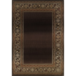 Generations Brown/ Green Rug (7'10 X 11')
