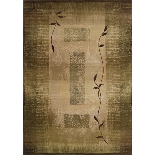 Generations Machine-woven Green/ Beige Rug (2' x 3')