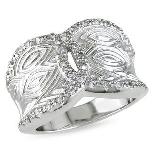 M by Miadora Sterling Silver Cubic Zirconia Ring