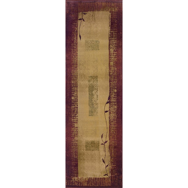 Generations Red/ Beige Rug (2'3 X 7'6)