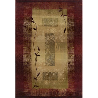 Generations Red/ Beige Area Rug (4' x 5'9)