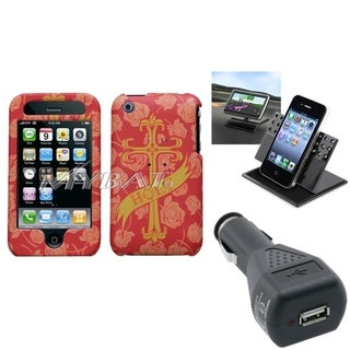 BasAcc Car Charger/ Dashboard Holder/ Case for Apple iPhone 3G/ 3GS