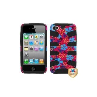 INSTEN Flower/ Flake/ Black Fishbone Phone Case Cover for Apple iPhone 4S/ 4