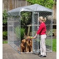 Lucky Dog Yard Guard Chain Link Box Kennel (7'H x 5'W x 10'L)