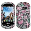 BasAcc Fantastic Flowers/ Diamante Case for LG VN271 Extravert