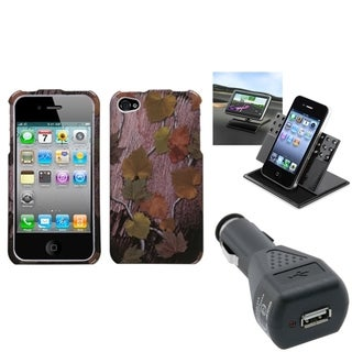 BasAcc Car Charger/ Dashboard Holder/ Case for Apple iPhone 4/ 4S