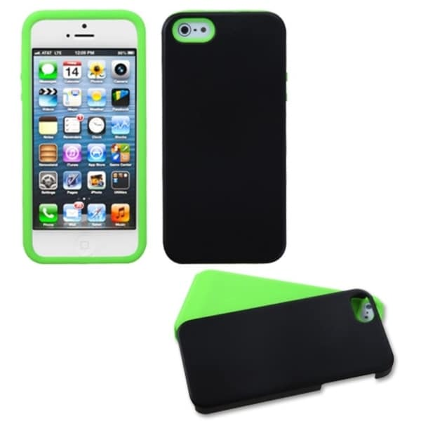 INSTEN Electric Green/ Inverse Fusion Phone Case Cover for Apple iPhone 5