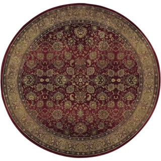 Generations Red/ Beige Area Rug (8' Round)