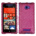BasAcc Dots/ Hot Pink/ White/ Diamante Case for HTC Windows Phone 8