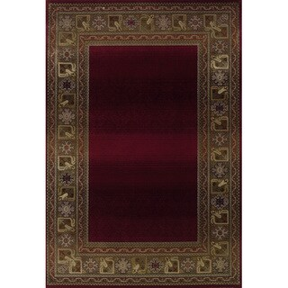 Generations Red/ Green Rug (2'3 X 4'5)