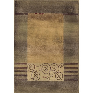 Generations Transitional Green/ Beige Rug (9'9 x 12'2)