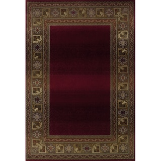 Generations Red/ Green Rug (4' X 5'9)