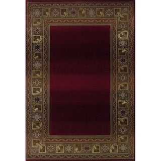 Generations Red/ Green Rug (6'7 X 9'1)