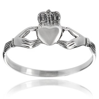Tressa Collection Premium Sterling Silver Claddagh Ring