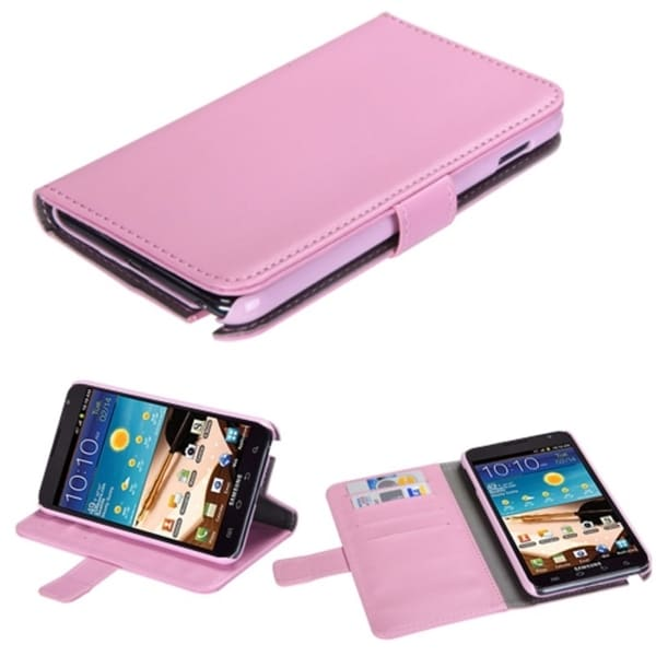 INSTEN Pink Wallet Phone Case Cover for Samsung Galaxy Note i717/ T879
