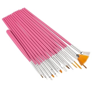 BasAcc 15-piece Pink Nail Art Design Brush
