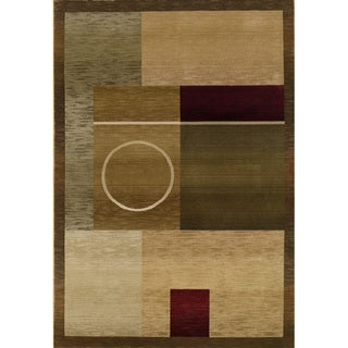 Generations Green/ Brown Rug (6'7 X 9'1)