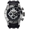 Invicta Men's Stainless Steel 'Pro Diver' Quartz Watch with Black Rubber Strap