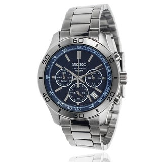 Seiko Men's Stainless Steel Chronograph Link Watch